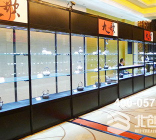 Aluminum cloth exhibition, display cabinet display